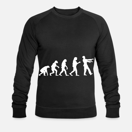 Énergie Vitale Sweat-shirts - Zombie Evolution Humanity Life Stupidity Stupid - Sweat-shirt bio Homme noir