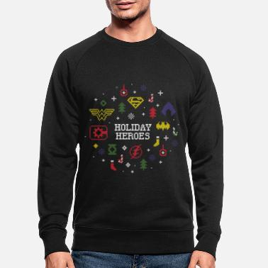 Justice League Holiday Heroes Ugly X-Mas - Sweat-shirt bio Homme