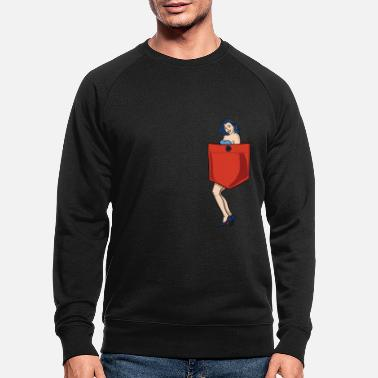 Up Pin up girl pocket - Mannen bio sweater