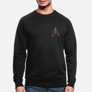 Star Trek Discovery Starfleet Neon Badge - Men's Organic Sweatshirt