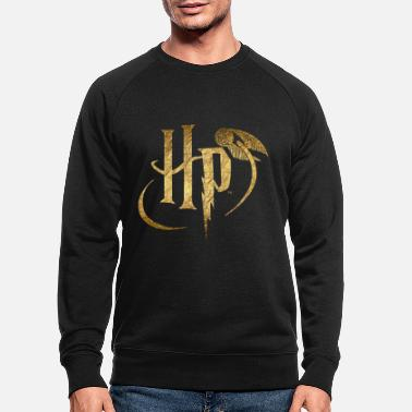 Gold Harry Potter Logo Gold - Miesten luomu pusero
