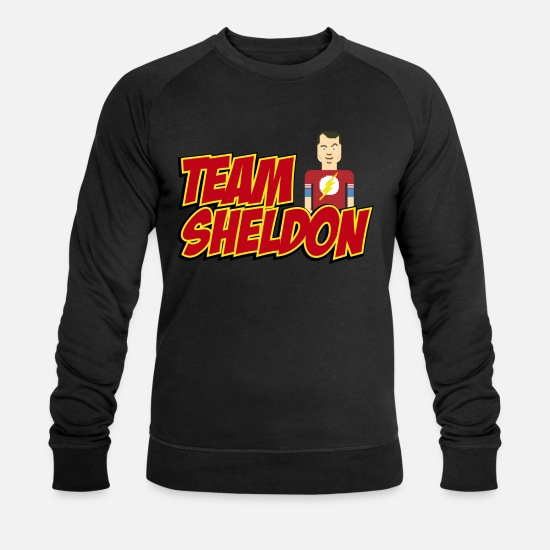 Big Sweaters & hoodies - Mannen T-shirt Team Sheldon Comic - Mannen bio sweater zwart