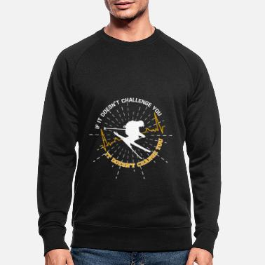 Surprise Ski amour skieur disant - Sweat-shirt bio Homme