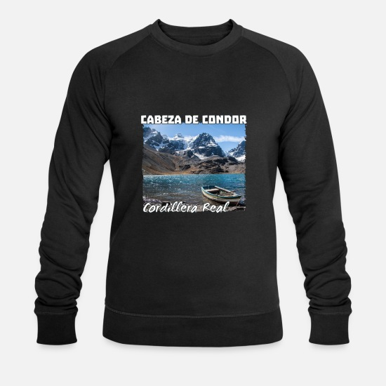 Andes Sweat-shirts - Andes Mountain Climbing Peak - Trek en Bolivie - - Sweat-shirt bio Homme noir