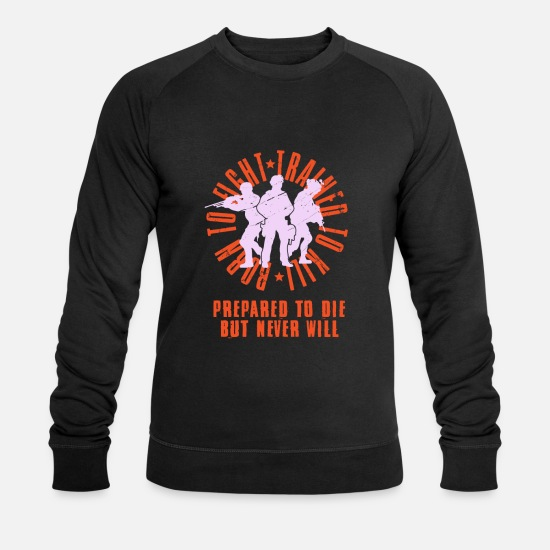 Gift Idea Hoodies & Sweatshirts - army - Men's Organic Sweatshirt black