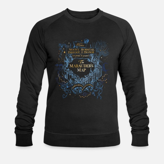 Potter Tröjor & hoodies - Harry Potter The Marauder's Map - Ekologisk tröja herr svart