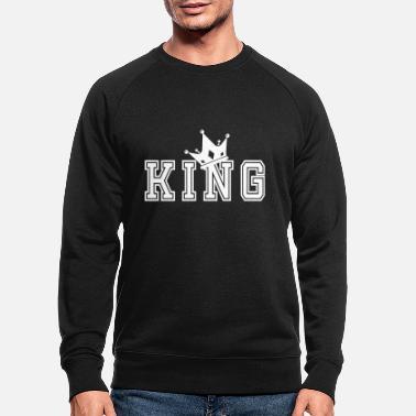 Couples Valentine's Matching Couples King Crown - Men's Organic Sweatshirt