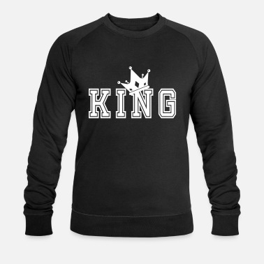 Couples Valentine's Matching Couples King Crown - Men's Organic Sweatshirt