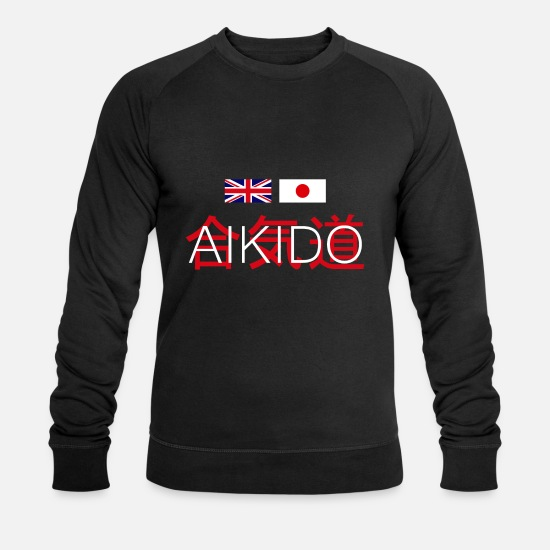 Aikido Hoodies & Sweatshirts - Aikido United Kingdom and Japan - Men's Organic Sweatshirt black