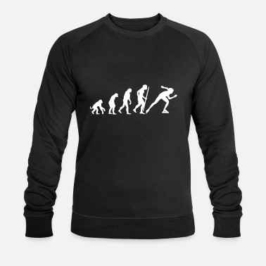 Skates Evolution of inline speed skating - Men's Organic Sweatshirt