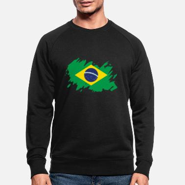 Travel Brazil flag South America splash of color - Men's Organic Sweatshirt