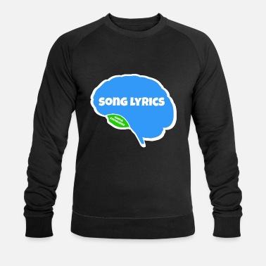 Song song lyrics brain memory brain parts gift - Men's Organic Sweatshirt