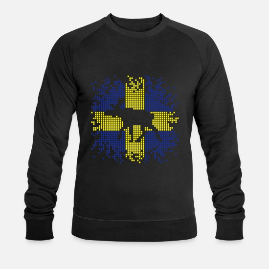 Pixel Älg Elk Ekologisk tröja herr   Spreadshirt