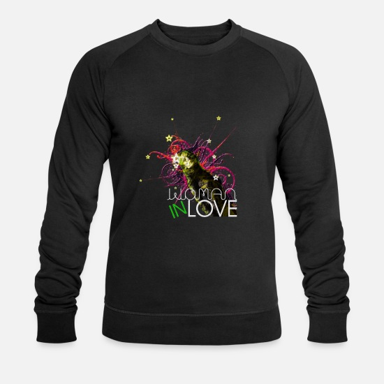 S'aimer Sweat-shirts - WOMAN IN LOVE - Sweat-shirt bio Homme noir