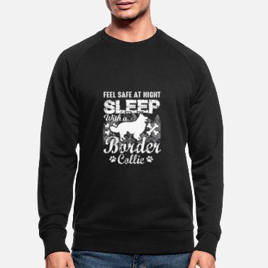 Boarder Safe with a Border Collie - Männer Bio Pullover