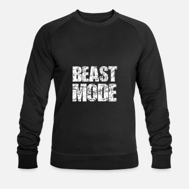 Mode Beast Mode Trainingsmotto - Männer Bio Pullover
