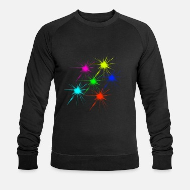 color blob colorful techno rave - Men's Organic Sweatshirt