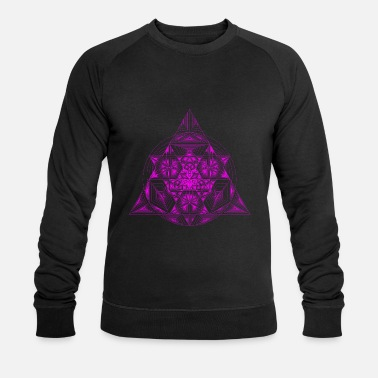 Pyramide Triangle SuperFlower Violet - Økologisk sweatshirt mænd