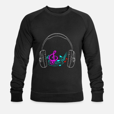 Graf Headphone Musik notes - Männer Bio Pullover