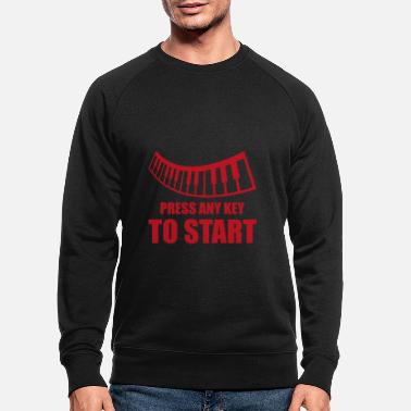 Italian Start Piano Pianist Gift - Men's Organic Sweatshirt