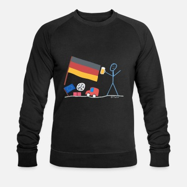Central Europe Germany stick figure country Central Europe - Men's Organic Sweatshirt