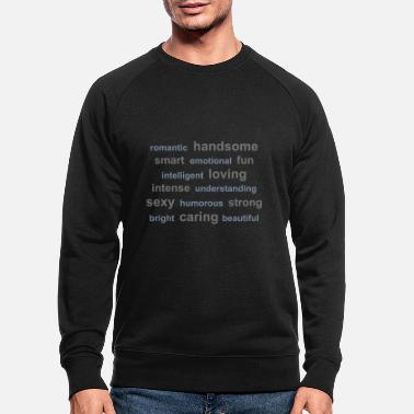 Clever tag cloud - Männer Bio Pullover