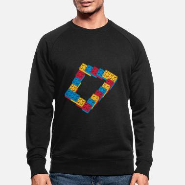 Occupation optical illusion - endless steps - Men's Organic Sweatshirt