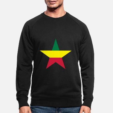 Rasta Colours Rasta star - Men's Organic Sweatshirt