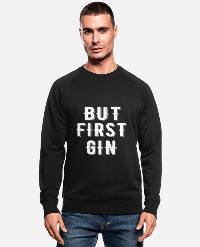Majorca Sweaters & hoodies - Maar First Gin T-shirt - Mannen bio sweater zwart