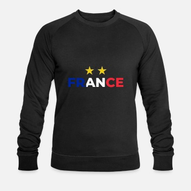 Étoiles Champion du monde de football France - Sweat-shirt bio Homme