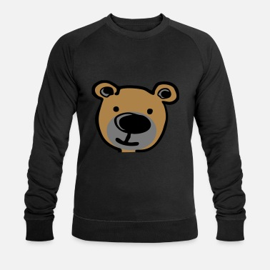 Cartoon Teddy (3 color) vector - Men's Organic Sweatshirt
