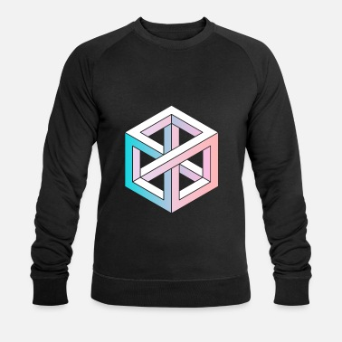 3d Cube Couleur Vente Géométrie Illusion Cube - Sweat-shirt bio Homme
