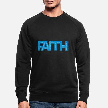 Vector Faith Hebrews 11-1 - 2 Color Vector - Men's Organic Sweatshirt