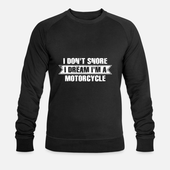 Birthday Hoodies & Sweatshirts - Motorcycle T-Shirt Gift Idea Birthday Funny - Men's Organic Sweatshirt black