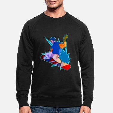 Winter Snowboarder Gift For Snowboarding Men And Women - Men's Organic Sweatshirt