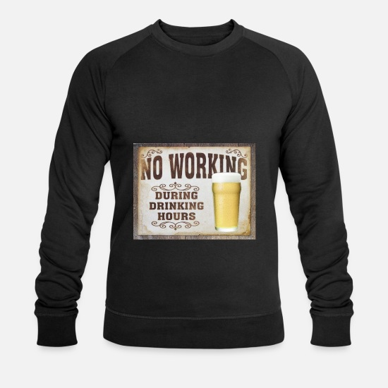 Labour Hoodies & Sweatshirts - no working - Men's Organic Sweatshirt black