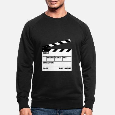 Tv clapperboard (writable flex) - Men's Organic Sweatshirt