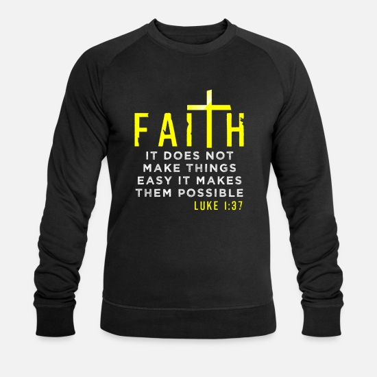 Church Hoodies & Sweatshirts - Jesus - Men's Organic Sweatshirt black