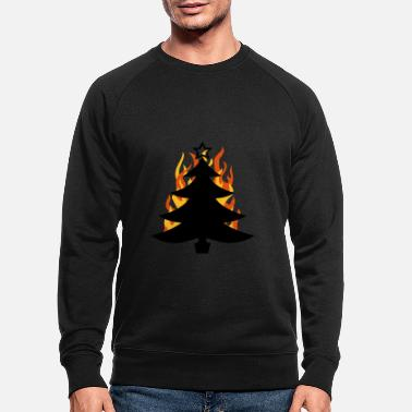 Symbol burning tree - Men's Organic Sweatshirt