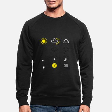 Weather weather forecast symbols - Men's Organic Sweatshirt