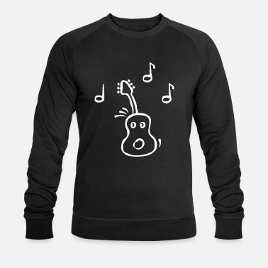 Musician Guitarist Sheet Music - Guitar with face - Mannen bio sweater