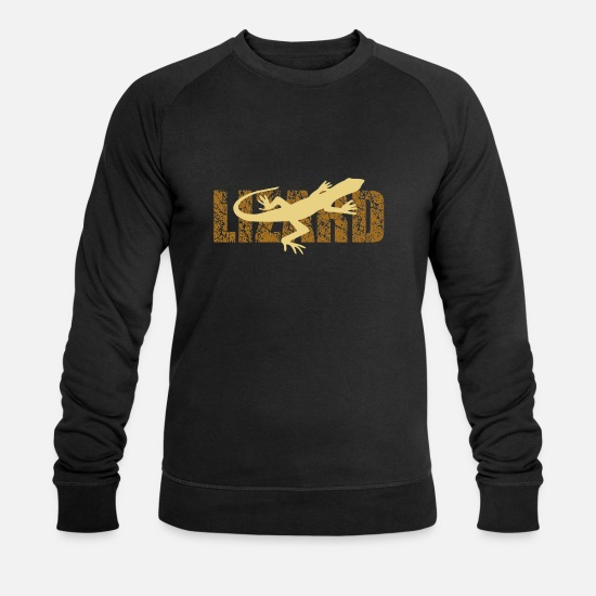 Lizard Hoodies & Sweatshirts - lizard - Men's Organic Sweatshirt black