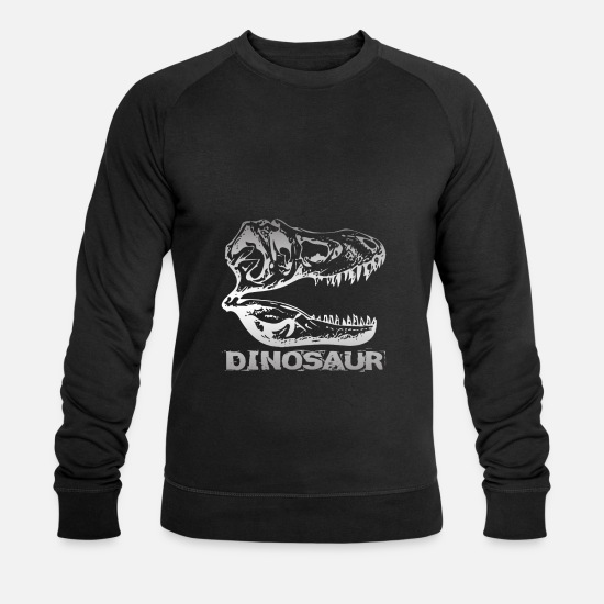 Crâne Sweat-shirts - Dinosaure - dinosaures - Sweat-shirt bio Homme noir