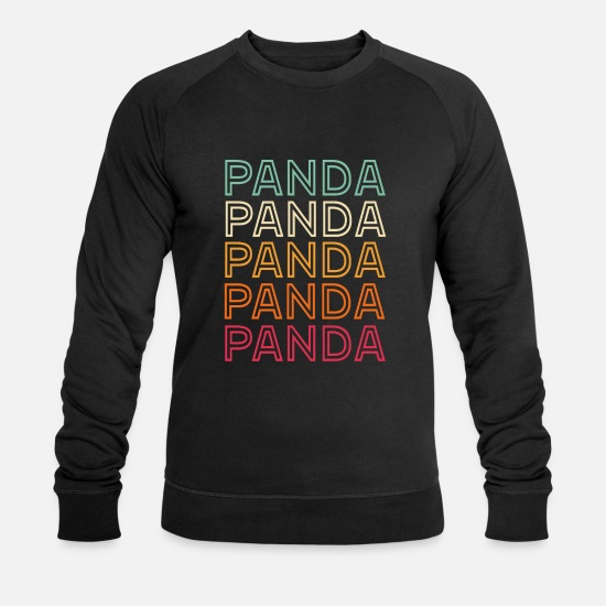 Panda Sweat-shirts - Panda panda panda - Sweat-shirt bio Homme noir