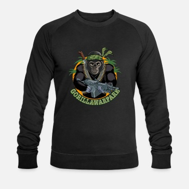 Warfare Gorilla Warfare Funny - Men's Organic Sweatshirt