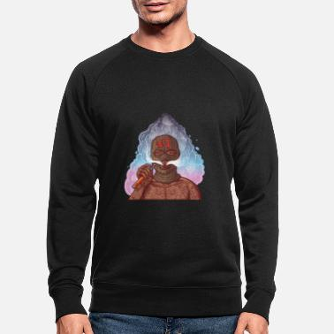 Gangster Vape gangster with tattoos and balaclava - Men's Organic Sweatshirt