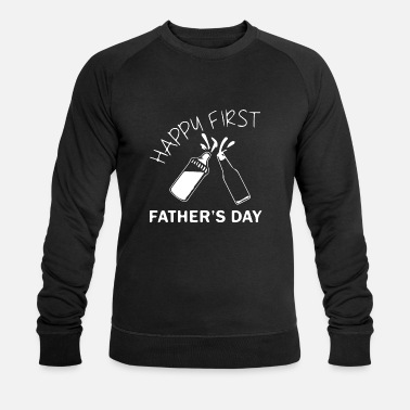 Fathers Day HAPPY FIRST FATHERS DAY - Männer Bio Pullover
