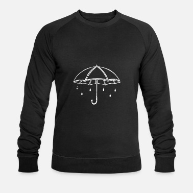 Wet white umbrella gift children rain - Men's Organic Sweatshirt