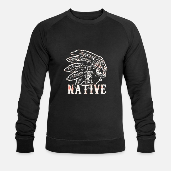 American Hoodies & Sweatshirts - Native American Native History USA - Men's Organic Sweatshirt black