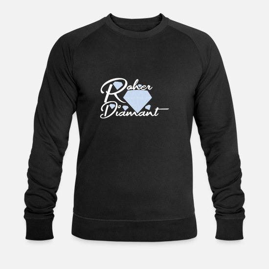 Diamant Sweat-shirts - Diamant brut - Sweat-shirt bio Homme noir